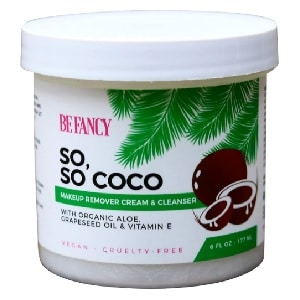 Be Fancy So, So Coco Makeup Remover Cream & Cleanser, Face Wash with Coconut Oil, Aloe, Vitamin E, Sensitive Skin, Non-Pore Clogging, Vegan, 6 oz